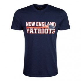 T-Shirt NFL New England Patriots New Era Stacked Wordmark bleu Pour Homme