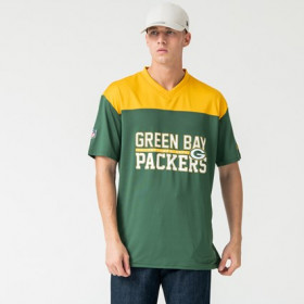12123838_T-Shirt NFL Greenbay Packers New Era Stacked Wordmark Oversized Vert Pour Homme