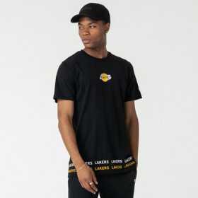 12123878_T-Shirt NBA Los Angeles Lakers New Era Wrap Around Noir pour Homme
