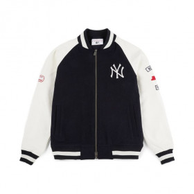 11860130_Bomber MLB New York Yankees New Era Raglan Varsity Bleu marine
