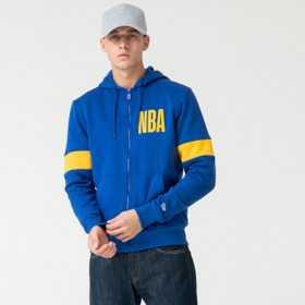 12123915_Sweat zippé à Capuche NBA Golden State Warriors New Era Bleu pour Homme