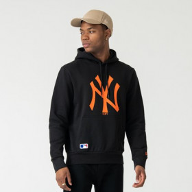 12123927_Sweat à capuche MLB New York Yankees New Era Seasonal Team Noir ORG pour homme