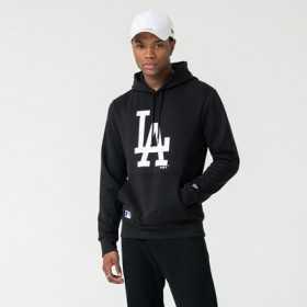 Men's New Era Seasonal Team Hoody MLB Los Angeles Dodgers Black