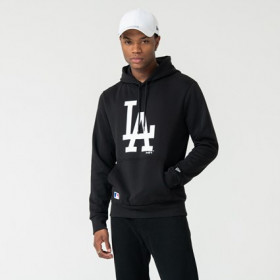 12123929_Sweat à capuche MLB Los Angeles Dodgers New Era Seasonal Team Noir pour homme