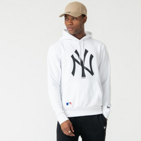 12123939_Sweat à capuche MLB New York Yankees New Era Seasonal Team Blanc pour homme
