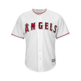 Maillot MLB Los Angeles Angels Replica Cool Base Blanc Pour Homme //// 7700-ANGH-ANG-RJH