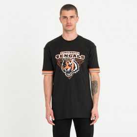 12123855_T-Shirt NFL Cincinnati Bengals New Era Stripe Noir Pour Homme