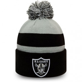 12134698_Bonnet NFL Oakland Raiders New Era Striped Cuff Knit Noir