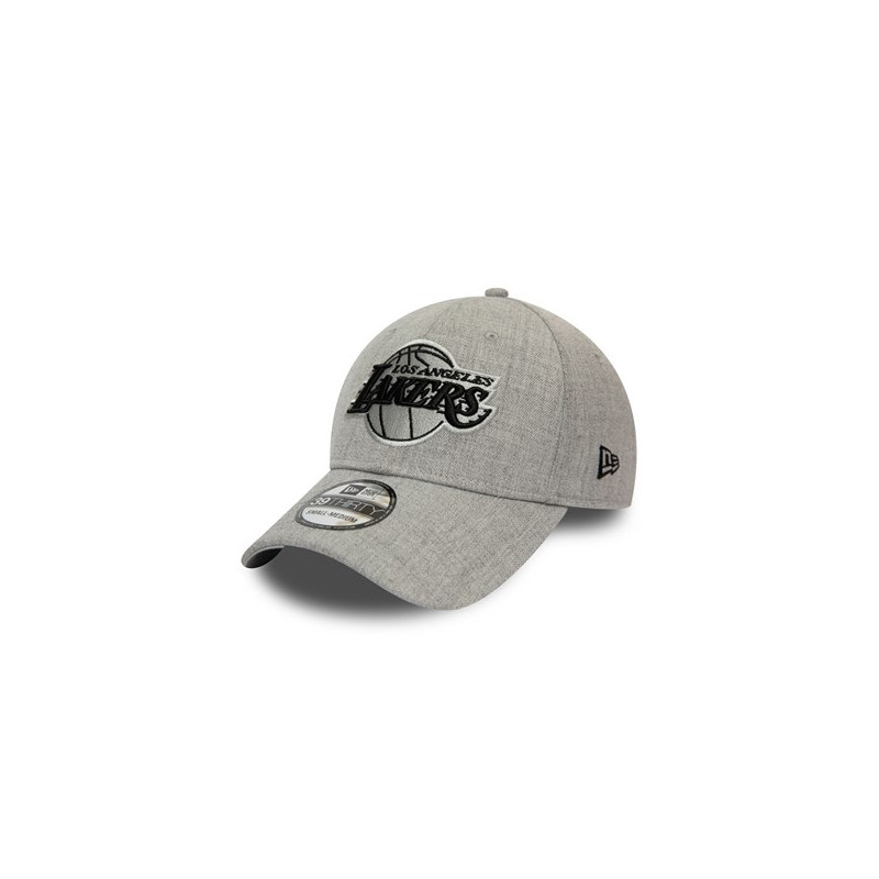 12134989_Casquette NBA Los Angeles Lakers New Era Heather Essential 39Thirty Gris