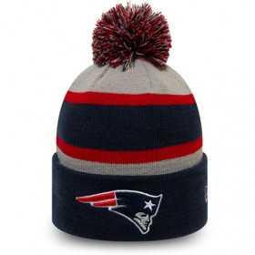 12145329_Bonnet NFL New England Patriots New Era Striped Cuff Bleu marine pour enfant
