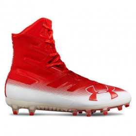 3000177-601_Crampons de Football Americain Under Armour Highlight MC Rouge