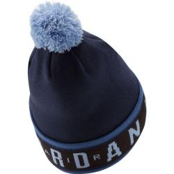 Bonnet Jordan Cuffed Pom Bleu