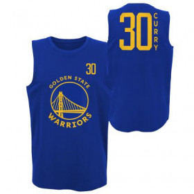 EK2M1BBTK-WARSC_Débardeur NBA Stephen Curry Golden State Warriors Dunked Muscle Bleu pour homme