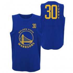 Estibador NBA Curry Golden State Warriors Muscle Azul para hombre