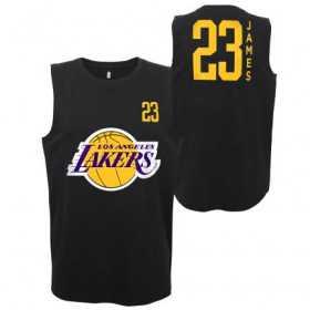 Estibador NBA Lebron James Los Angeles Lakers Muscle Negro para hombre