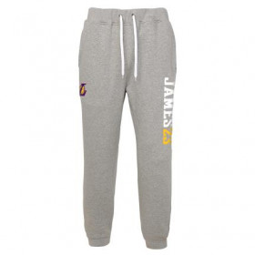 EK2M1BBSP-LAKJL_Pantalon NBA Lebron James Los Angeles Lakers Gym rat Jogger Gris pour Homme