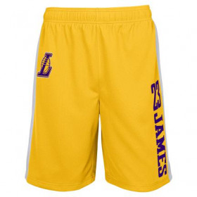 EK2M1BBSW-LAKJL_Short NBA Lebron James Los Angeles Lakers Jumpshot Mesh Ball Jaune pour homme