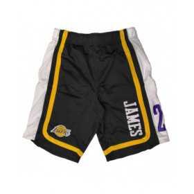 EK2M1BBSY-LAKJL_Short NBA Lebron James Los Angeles Lakers Hooper Ball Noir pour homme