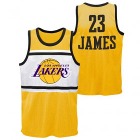 Estibador NBA Lebron James Los Angeles Lakers Player sublimated Shooter Amarillo para hombre
