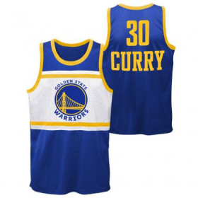 EK2M1BBSZ-WARSC_Débardeur NBA Stephen Curry Golden State Warriors Player sublimated Shooter Bleu pour homme