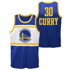 Estibador NBA Stephen Curry Golden State Warriors Player sublimated Shooter Azul para hombre