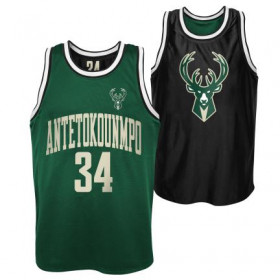 Estibador NBA Giannis Antetokounmpo Milwaukee Bucks reversible Pure Shooter Dazzle Verde para hombre