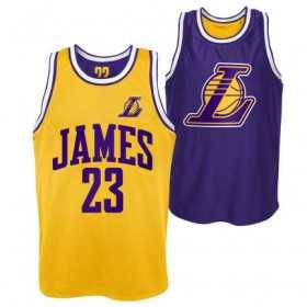 EK2M1BBSQ-LAKJL_Débardeur NBA Lebron James Los Angeles Lakers Player Pure Shooter Reversible Jaune pour homme