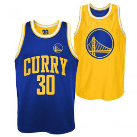 Men's NBA Stephen Curry Golden State Warriors Pure Shooter reversable Dazzle Tank Yellow