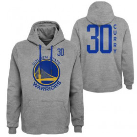 EK2M1BBTL-WARSC_Sweat à Capuche NBA Stephen Curry Golden State Warriors Gris pour Homme