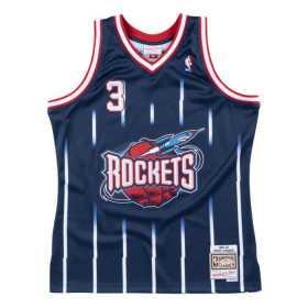 SMJYCP18182-Maillot NBA Steve Francis Houston Rockets 1999-00 Mitchell & ness Hardwood Classic swingman Bleu Marine