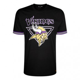 12156827_T-Shirt NFL Minnesota Vikings New Era Stripe Noir Pour Homme