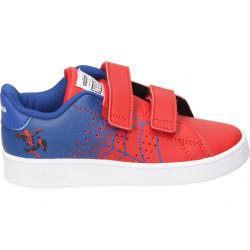 """EG7903_Chaussure adidas Advantage I """"Spiderman"""" rouge pour bébé"""