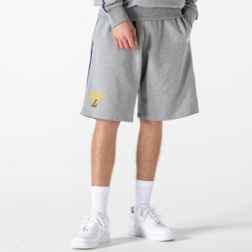12195371_Short NBA Los Angeles Lakers New Era Piping Gris pour homme