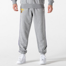 12195374_Pantalon NBA Los Angeles Lakers New Era Piping Jogger Gris pour Homme