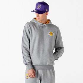 12195377_Sweat à Capuche NBA Los Angeles Lakers New Era Piping Gris pour Homme
