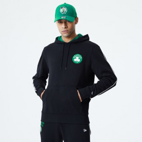 12195379_Sweat à Capuche NBA Boston Celtics New Era Piping Noir pour Homme