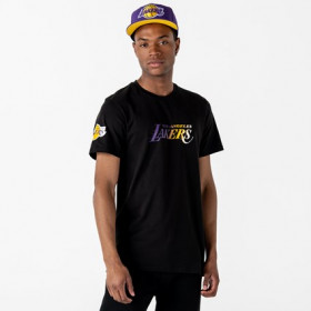 12195384_T-Shirt NBA Los Angeles Lakers New Era Gradient Wordmark Noir pour Homme