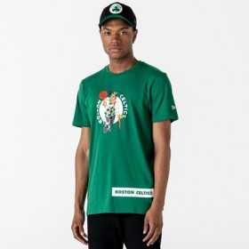 12195403_T-Shirt NBA Boston Celtics New Era Block Wordmark Vert pour Homme