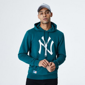 12195434_Sweat à capuche MLB New York Yankees New Era Seasonal Team Logo Bleu pour homme