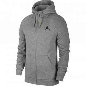939998-092_sweat à capuche Zippé Jordan Jumpman Fleece Gris BLK logo pour homme