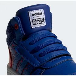 "Chaussure adidas Hoops Mid ""Spiderman"" rouge pour bébé"