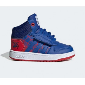 """Baby's adidas Hoops Mid """"Spiderman"""" Red"""