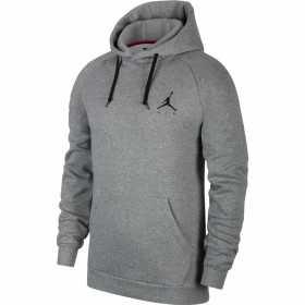 940108-092_sweat à capuche Jordan Jumpman Fleece PO Gris logo BLK pour homme
