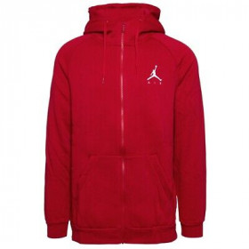 939998-687_sweat à capuche Zippé Jordan Jumpman Fleece Rouge pour homme
