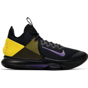 BV7427-004_Chaussure de Basketball Nike LeBron Witness 4 Noir Gold pour homme