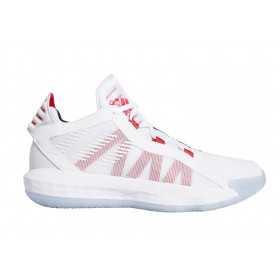 "EF9856_Chaussure de Basketball adidas Dame 6 ""Dametime"" Blanc pour junior"