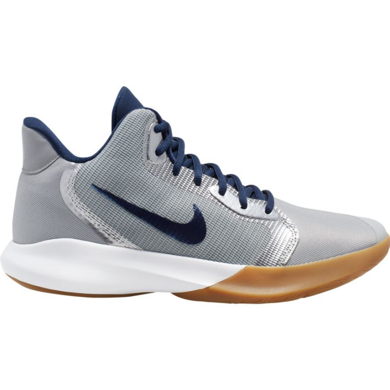 Significativo Suburbio salida  Chaussure de Basketball Nike Precision III Gris pour junior