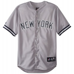 Majestic MLB replica New york Yankees maillot enfant gris
