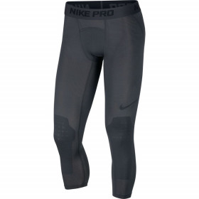 AT3383-060_Legging de compression Nike Pro 3/4 Basketball Tights Gris pour homme