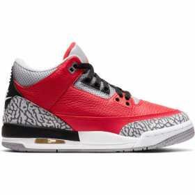 "Kid's Jordan 3 Retro ""Unite"" Fire Red (GS)"